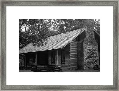 Belle Meade Log Cabin Framed Print by Robert Hebert