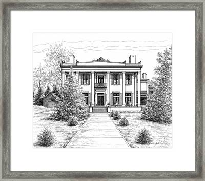 Framed Print featuring the drawing Belle Meade Plantation by Janet King