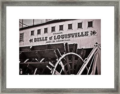 Belle Of Louisville Framed Print