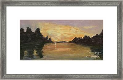 Belle River II Framed Print