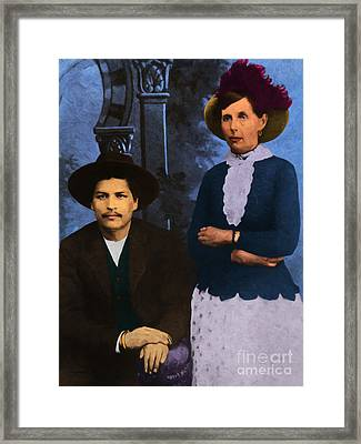 Belle Starr And Blue Duck 20130514 Framed Print by Wingsdomain Art and Photography