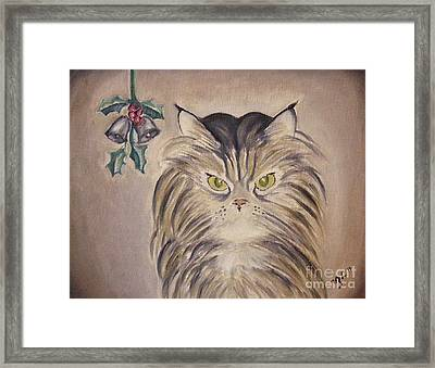 Belle With Silver Bells Framed Print