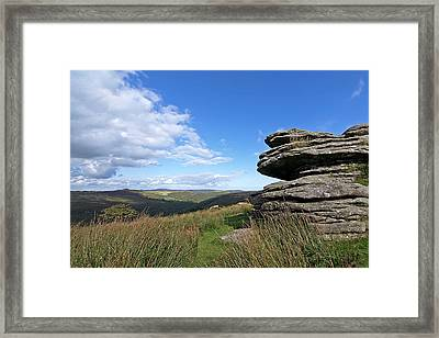 Bellever Tor On Dartmoor Framed Print by Gill Billington