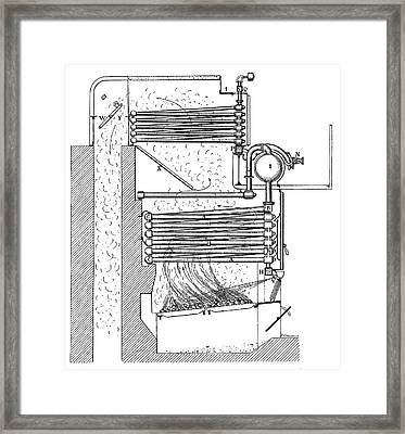 Belleville Boiler Framed Print by Science Photo Library