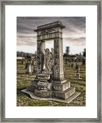 Bellevue Cemetery Crypt - 01 Framed Print by Gregory Dyer