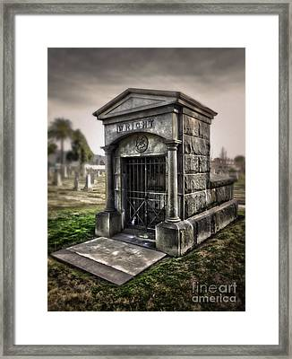 Bellevue Cemetery Crypt - 03 Framed Print by Gregory Dyer