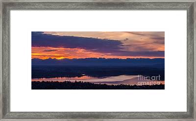 Bellevue Eastside Sunrise Framed Print by Mike Reid