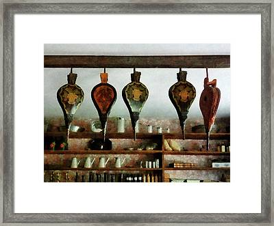 Bellows In General Store Framed Print
