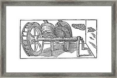 Bellows Operated By A Camshaft Framed Print by Universal History Archive/uig