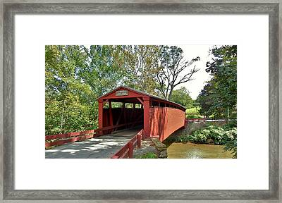 Bells Mills Covered Bridge Framed Print