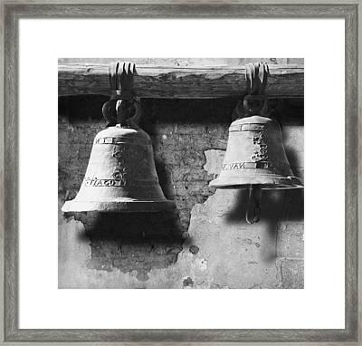 Bells Of San Juan Capistrano Framed Print by Larry Butterworth