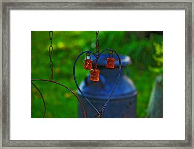 Framed Print featuring the photograph Bells by Rowana Ray