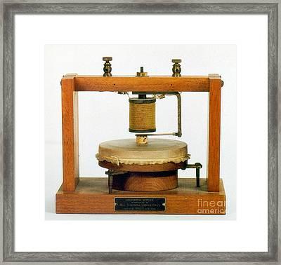 Bells Telephone, 1876 Framed Print