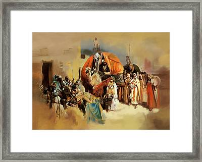 Belly Dancer Caravan Framed Print by Corporate Art Task Force