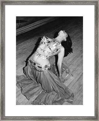 Belly Dancing School Student Framed Print by Underwood Archives
