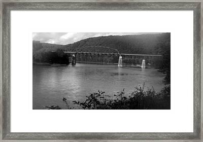 Belmar Bridge  Framed Print by Joyce  Wasser