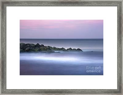 Belmar On The Rocks Framed Print