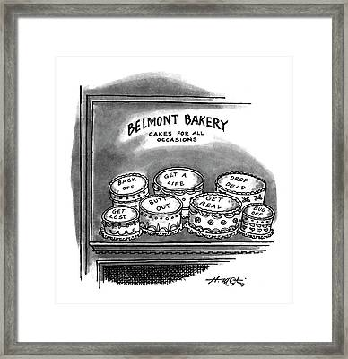 Belmont Bakery Cakes For All Occasions Framed Print by Henry Martin