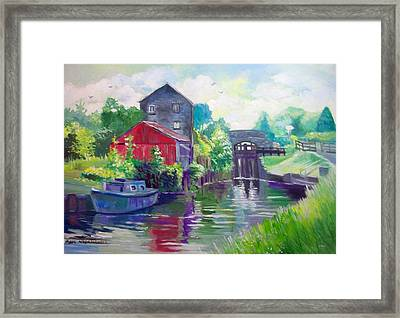 Framed Print featuring the painting Belmont Co Offaly Ireland by Paul Weerasekera