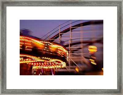 Did I Dream It Belmont Park Rollercoaster Framed Print by Scott Campbell