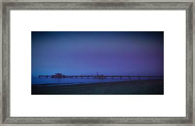 Framed Print featuring the photograph Belmont Pier by Joseph Hollingsworth