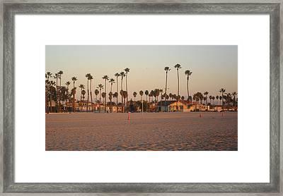Belmont Shore Sunset Framed Print