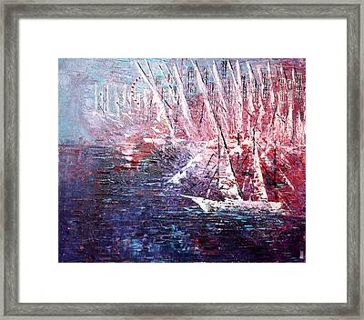 Belmont Turn  Framed Print