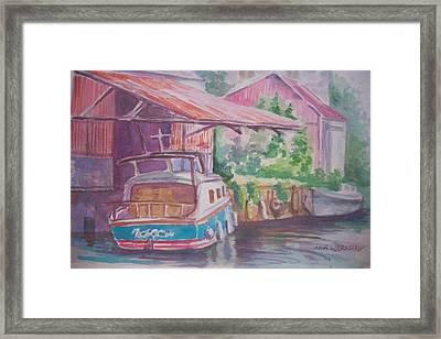Framed Print featuring the painting Belmont  Co Offaly by Paul Weerasekera