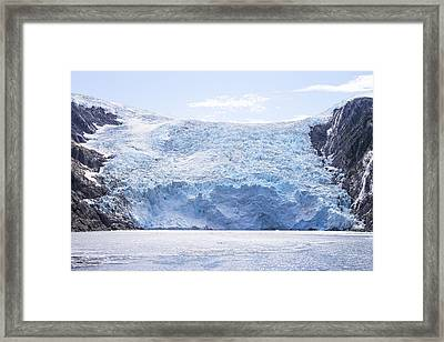 Beloit Glacier Framed Print by Saya Studios