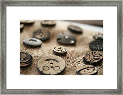 Beloved Buttons  Framed Print by Lynn England