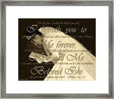 Beloved Ishi Framed Print by Constance Woods