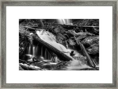 Below Anna Ruby Falls In Black And White Framed Print