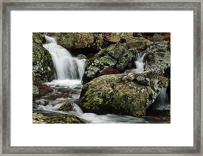 Below Mina Sauk Falls In The Missouri Ozarks 5 Framed Print