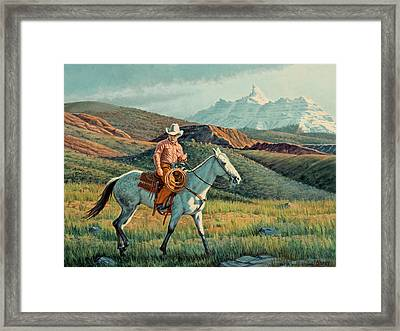 Below Ram's Horn   Framed Print