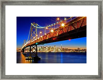 Below The Bay Bridge And San Francisco Skyline Framed Print