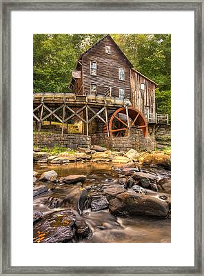Below The Old Mill Framed Print