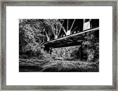Below The Skyway Framed Print by JC Findley