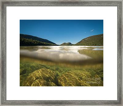Below The Surface Of Jordan Pond Framed Print