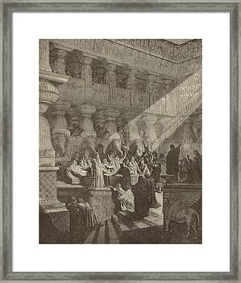 Belshazzar's Feast Framed Print by Antique Engravings