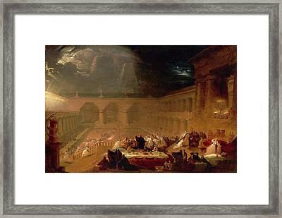 Belshazzars Feast Signed And Dated Framed Print by Litz Collection
