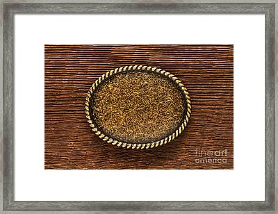 Belt Buckle Framed Print