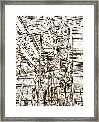 Belt Drive Dm  Framed Print
