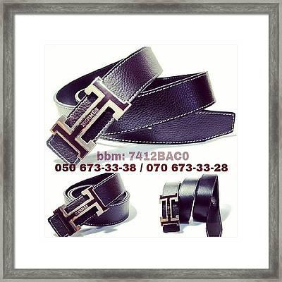 #belt #hermes #unisex #baku Framed Print