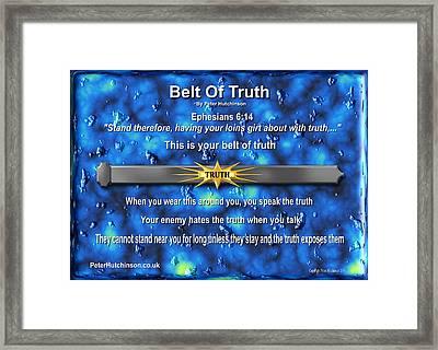 Belt Of Truth Framed Print