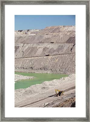 Beltana Number 1 Open Cast Coal Mine Framed Print