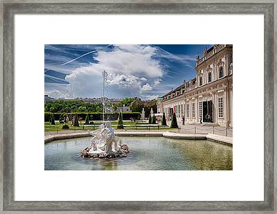 Belvedere Fountains Framed Print by Viacheslav Savitskiy