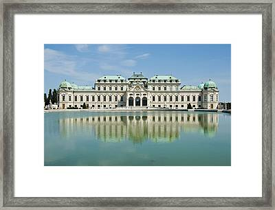 Framed Print featuring the photograph Belvedere Palace by Jeremy Voisey