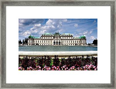 Framed Print featuring the photograph Belvedere Palace by Joe  Ng