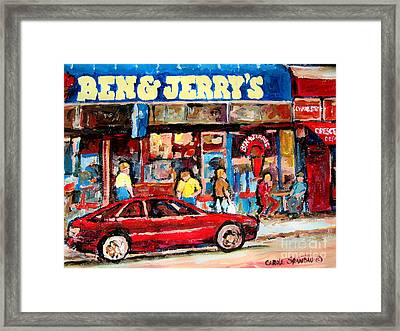 Ben And Jerrys Ice Cream Parlor Framed Print by Carole Spandau