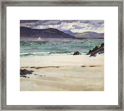 Ben Bhuie From The North End   Iona Framed Print by Francis Campbell Boileau Cadell